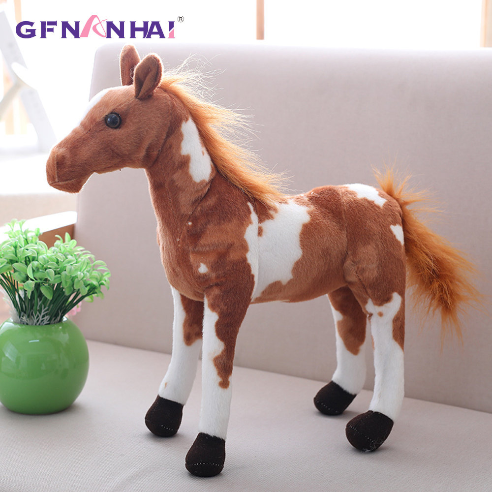 1PC 30-60CM Simulation Horse Plush Toys Cute Stuffed Animal Real Like Zebra Doll Soft Toy Kids Birthday Gift Home Decoration