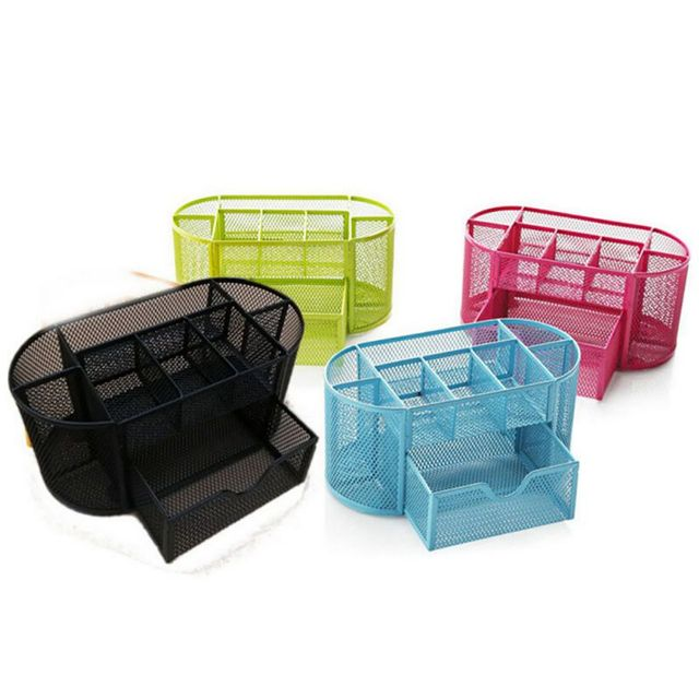 Iron Wire Mesh 9 Cells School Office Home Desk Stationery Pen Pencil Holder NEW Exquisite Collection Basket-in Storage Holders & Racks from Home & ...