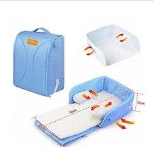 Купить с кэшбэком Portable Baby Crib 70*31*15 0-6M Infant Bed Tent Baby Bed 100%Cotton Sleepping Basket Folding Baby Crib Bercos De Bebes Cunas
