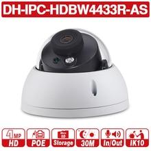 DH 4MP CCTV IP Camera IPC-HDBW4433R-AS Support IK10 IP67 Audio and Alarm PoE Camera With IR Range 30m цена 2017