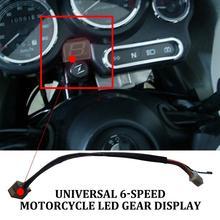 Универсальный 6 Скорость Moto Дисплей цифровой светодиодный Дисплей нейтральный Шестерни Мотоцикл Внедорожный мотоцикл индикатор светильник