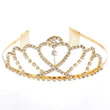 2018 New Fashion Luxury Crystal Bridal Crown Tiaras Light Gold Diadem Tiaras for Women Bride Wedding Hair Accessories(China)