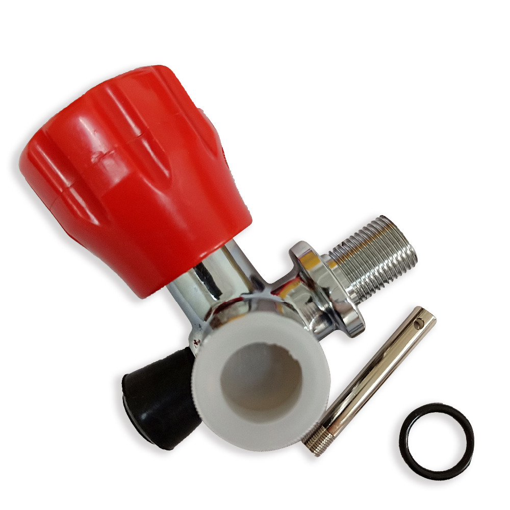 AC911 Acecare M18*1.5 Red Valve For PCP Rifle Paintball Tank Scuba Carbon Fiber Cylinder Direct From Chinese Factory On Sale
