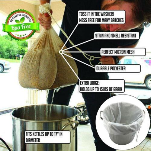 1pcs Kitchen Home Milk Tea Filter Bag Reusable Drawstring Bag For Spice Bag