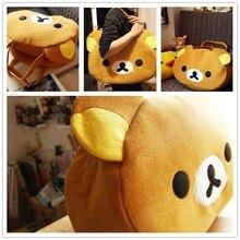 Lovely crossbody yellow rotan bag Anime San-X Rilakkuma Cute Oso Bolso Hombro Colgar plush Para comprar Totes AE bags for women
