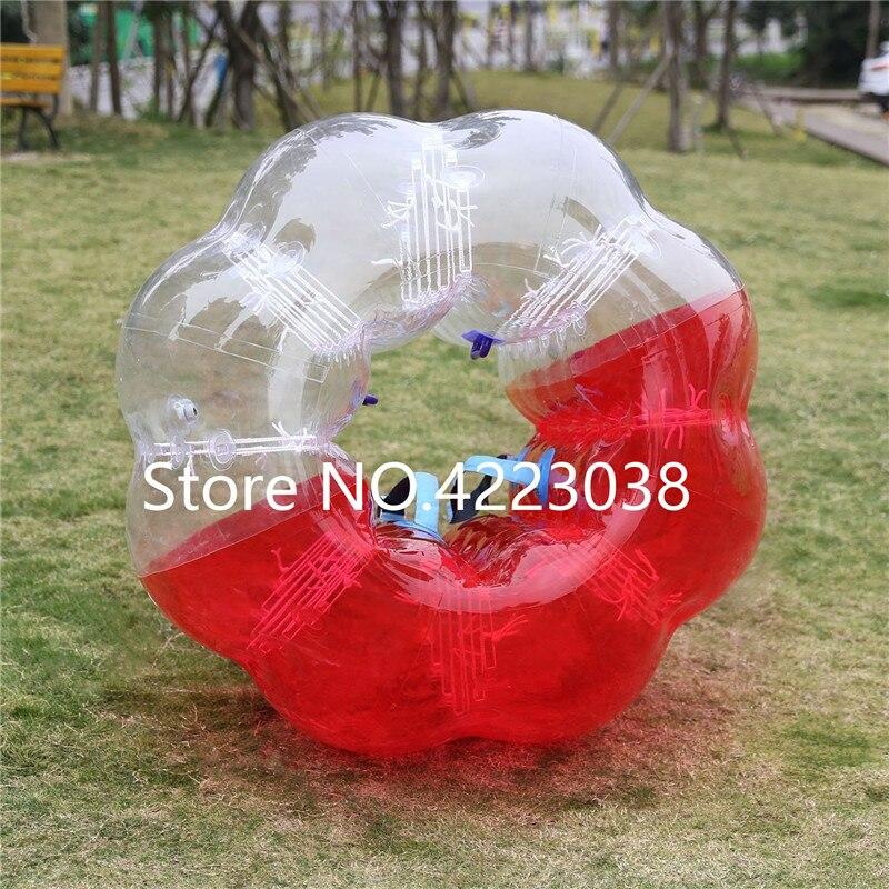 Livraison gratuite 1.5 m balle de Football humain bulle Loopyball jouets pour Sports de plein air balle de Hamster balle anti Stress bulle Football costume