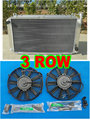 3 РЯД Алюминиевый радиатор + вентилятор ДЛЯ Nissan GQ PATROL Y60 4.2L бензин MT 1987-1997