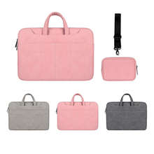 Buy Waterproof Laptop Bag Women for Macbook Air Pro 13.3 14.1 15.4 15.6 Laptop Notebook Shoulder Handbag Briefcase Cases directly from merchant!