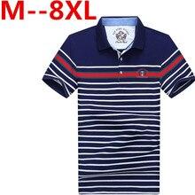 Plus 10XL 9XL 8XL 7XL 6XL 5XL men polo shirt new summer casual striped cotton men's polo solid polo shirt polo ralp men camisa