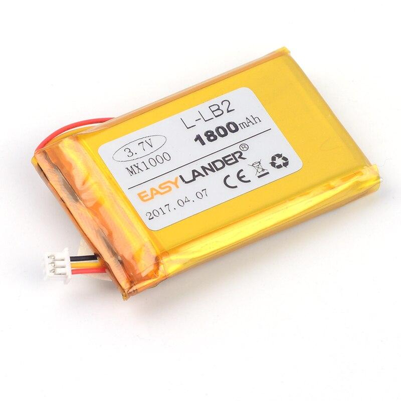 Sincero Easylander De Reemplazo 3,7 V 1800 Mah Recargable Li-polímero Batería L-lb2 Para Logitech Mx1000 Mx 1000 M-rag97 Ratón Inalámbrico Rendimiento Confiable