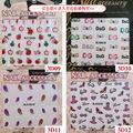100 UNIDS/LOTE Envío Libre Lindo de La Flor y de La Historieta Diseño Nail Art Sticker Transferencia de Agua Tatuajes # HEF023