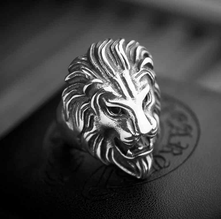 NEW HOT Thời Trang bán chạy đầu sư tử Vòng đá Punk Chuông gió Triều Nam triều người phụ nữ mặc đầu Sư Tử Vòng