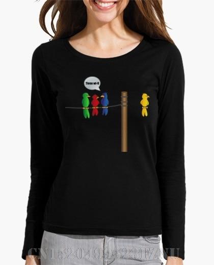 Autumn winter Panic buying Long Sleeve womens Wireless bird O neck Casual Knitted anime printed t shirt women