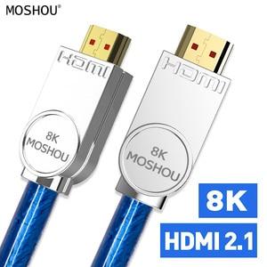 Image 1 - Cabos hdmi 2.1 amplificador 8k 60hz 4k 120hz hdr 4:4:4 uhd 48gbps hifi arc 12 bit 7680*4320 com vídeo de áudio