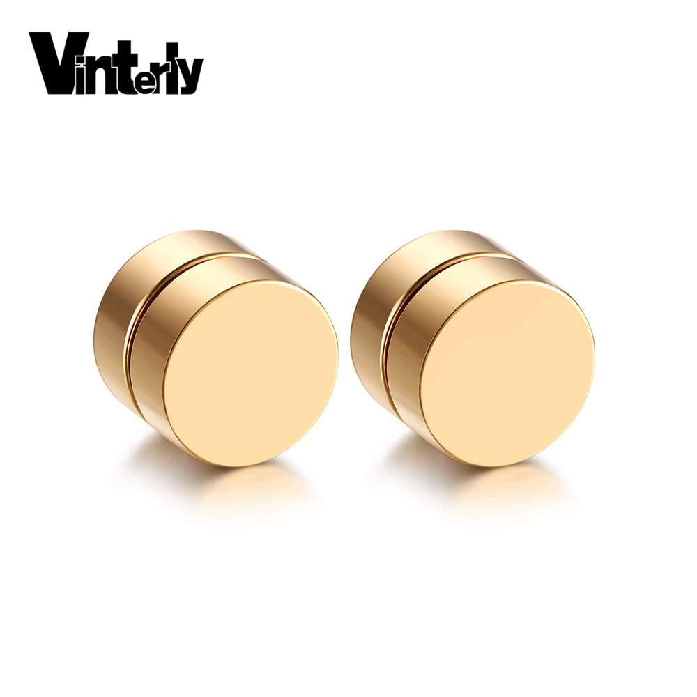 Vinterly Multicolor Magnetic Stud Earrings For Boy 316l Stainless Steel  Magnet Jewelry Men Don't
