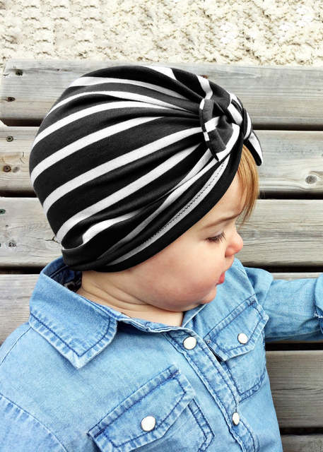 5377202b26a Newborn Baby Hat Baby turban hats with bow turbans for tots Infant toddler  Top Knot beanie