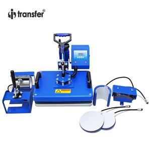 I-transfer 29*38 см круглый край 6 в 1 комбинированный термопресс передача/сублимационная машина для чашек, шляп, тарелок HPM01A6