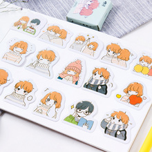45 Pcs/box Cute Small warmth Mini Paper Sticker Decoration diy Diary Scrapbooking Label Stationery kawaii School Supply