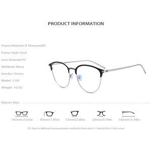 Image 4 - Reinem Titan Brillen Rahmen Frauen Retro Runde Myopie Optische Rahmen Brillen für Männer Vintage Licht Brillen brillen