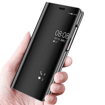 Smart Flip Stand Mirror Case For Xiaomi Redmi 5 Case Clear View PU Leather Cover For Xiaomi Redmi5 Case Cover Xiaomi Red mi 5