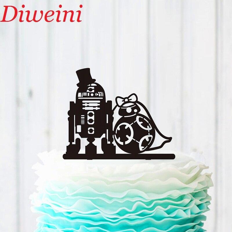 Hochzeitstorte Topper Star Wars Kuchen Topper R2d2 Bb8 Kuchen
