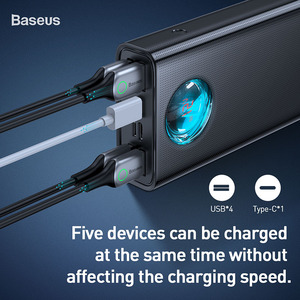 Image 2 - Baseus Batería Externa de 30000 mAh para móvil, Powerbank portátil de carga rápida, USB C, PD3.0, 3,0, 30000 mAh, para Xiaomi mi