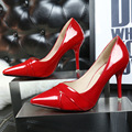 European Style 2015 Spring And Autumn New High-heeled Fashion Shallow Mouth Pointed Fine With Sexy Singles