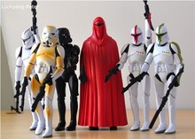 6pcs/lot Star Wars Stromtrooper Action Figures Emperor's Royal Guard Doll PVC ACGN figure Toys Brinquedos 15-17CM