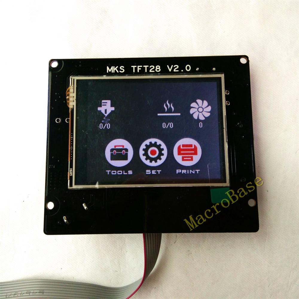 Prix pour 3d impression éléments MKS TFT28 V2.0 écran tactile RepRap contrôleur panneau coloré affichage SainSmart splash écran led Moniteur