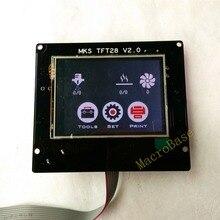 3d печать элементов МКС TFT28 V2.0 сенсорный экран RepRap контроллер панели красочный дисплей SainSmart всплеск экран led-Монитор