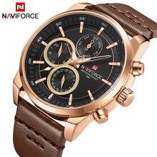 NAVIFORCE Топ Элитный бренд часы для мужчин модные повседневное кварцевые 24 Время, дата часы мужские кожаные водонепроница