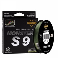 Quality Monster S9 300M Braided Fishing Lines S Spiral Braide Tech 9 Strands Multifilament PE Green