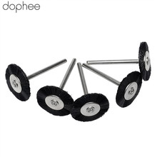 Dophe 5 шт. Аксессуары Dremel 3 мм хвостовик, плоские нейлоновые щетинки, Полировочная щетка, колесо для вращающихся инструментов Dremel