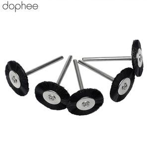 Image 1 - dophee 5PCS Dremel Accessories 3MM Shank Flat Nylon Bristle Wheels Brush Buffing Polishing Brush Wheel for Dremel Rotary Tools