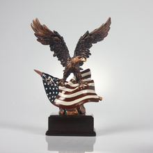 Unique American Eagle Resin Statue Sculptures Mighty Eagle birds office new home decoration Furnishings