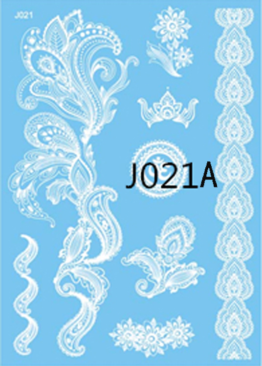2017 Rushed 90 Design Indian Arabic White Henna Tattoo Paste Lace