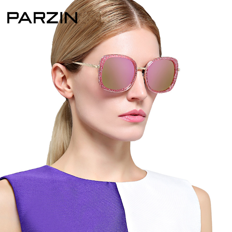 Parzin Polarized sunglasses Women Tr 90 Vintage Female Sun Glasses Ladies Shades Driving Glasses With Case 9851