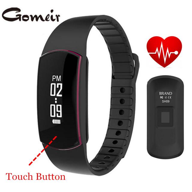 Original SH09 Banda de Freqüência Cardíaca Rastreador Inteligente com OLED Sensível Ao Toque Monitor Inteligente Pulseira Inteligente Pulseira Bluetooth 4.0 SmartbandSleep