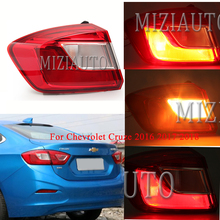 лучшая цена MIZIAUTO Tail Light Outer side for Chevrolet Cruze 2016 2017 2018 turn signal taillights Tail Light Assembly Rear Brake Light
