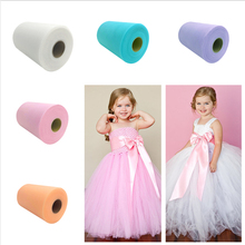 White Pink Tulle Roll Spool Tutu 15cm 100 Yards DIY Table Skirt Birthday Wedding Party Decoration Organza Supplies