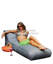 Grey outdoor garden beach chair, waterproof beanbag sofa seat, home patio furniture, portable fold bean bag sofa sack