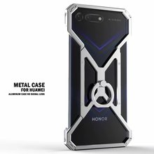 Luxury Aluminum Metal Case For Huawei Honor V20 V10 V9 10 9 8 Lite Cover Powerful Armor Shockproof Bumper Case Metal Frame Cover