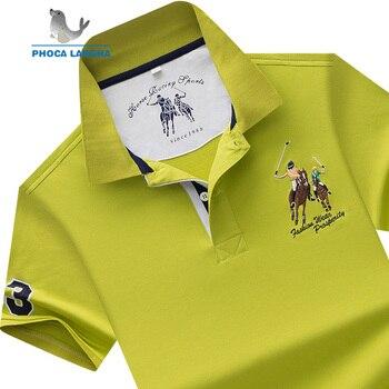 0260d478a4 De POLO de los hombres marca camisetas de algodón de manga corta Camisas  sólido bordado Polo verano Collar hombre Polo Shirt plus tamaño s-7XL