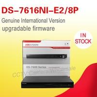 In stock HIKVISION DS 7616NI E2/8P original international version 16CH POE NVR SUPPORT 5MP IP camera p2p network vedio recorder