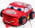 2015 новая мода симпатичные автомобили осветительные игрушки дважды плечо младенца малыши детей детский сад мальчики мультфильма рюкзак школьный портфель