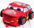 2015 moda de nueva lindo coches aligeramiento juguetes doble-hombro del bebé niños de los niños de jardín de infantes los niños mochila de dibujos animados bolsa de la escuela