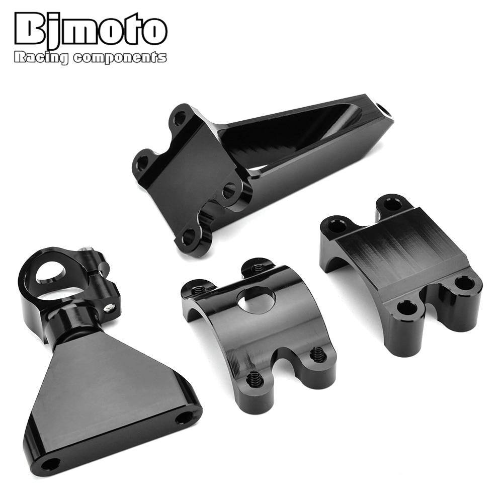 Bjmoto CBR 600 F 4i noir direction amortisseur stabilisateur support de montage support pour Honda CBR600 F4i 1999 2000 2001 2002 2003 2004