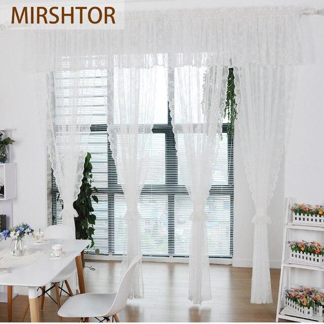 mirshtor mooie en goedkope tulle sheer gordijn voor keuken raam of woonkamer