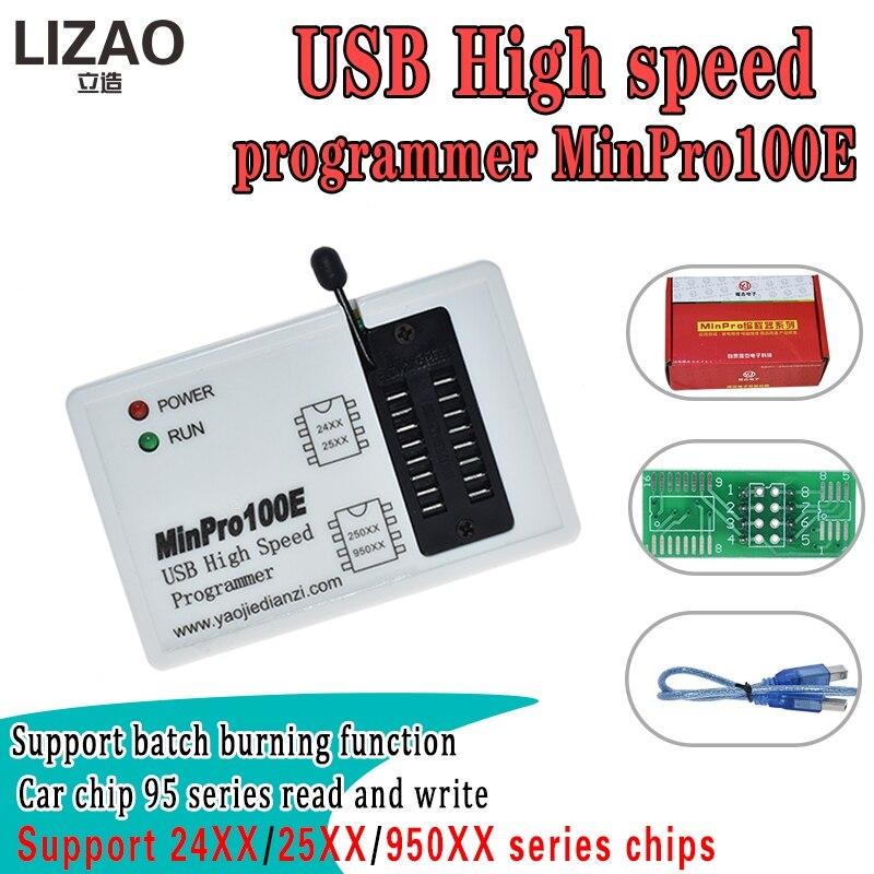 Programador em Flash Queimador de Memória Ler e Escrever Bios – 25 95 Usb Minpro100e Minpro100g Spi 24 Mod. 218551