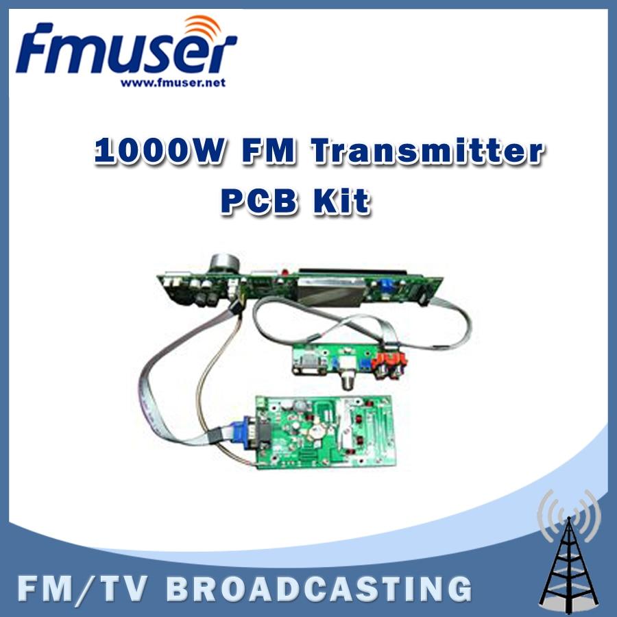 Free shipping FMUSER FSN-1000K 1000W 1kw PCB Assemble DIY Kit For FM Transmitter Supplier Easy Operation free shipping fmuser fsn 150k 150w fm broadcast transmitter assemble pcb kit